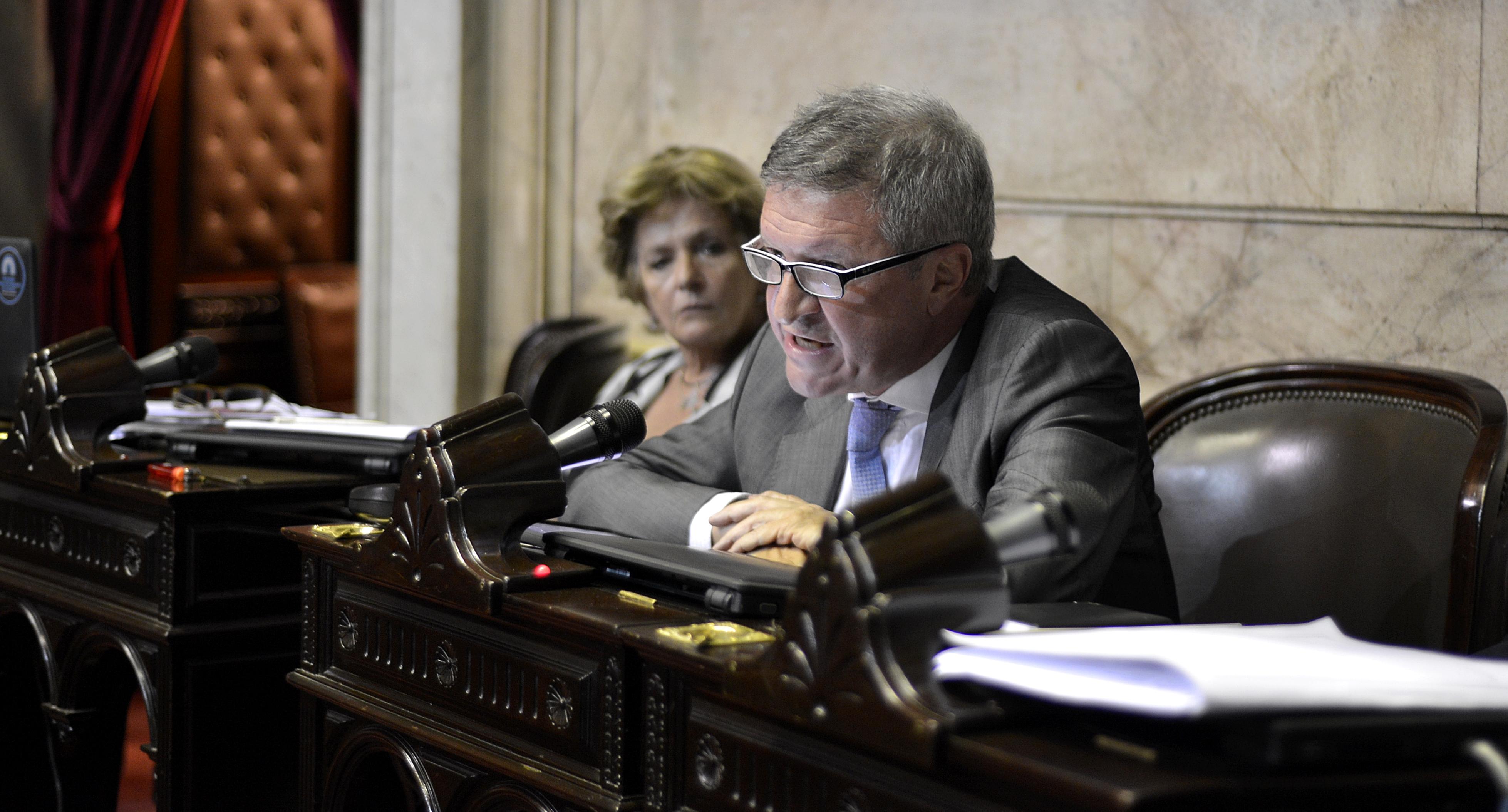 Mario Oporto en la Cámara de Diputados de la Nación
