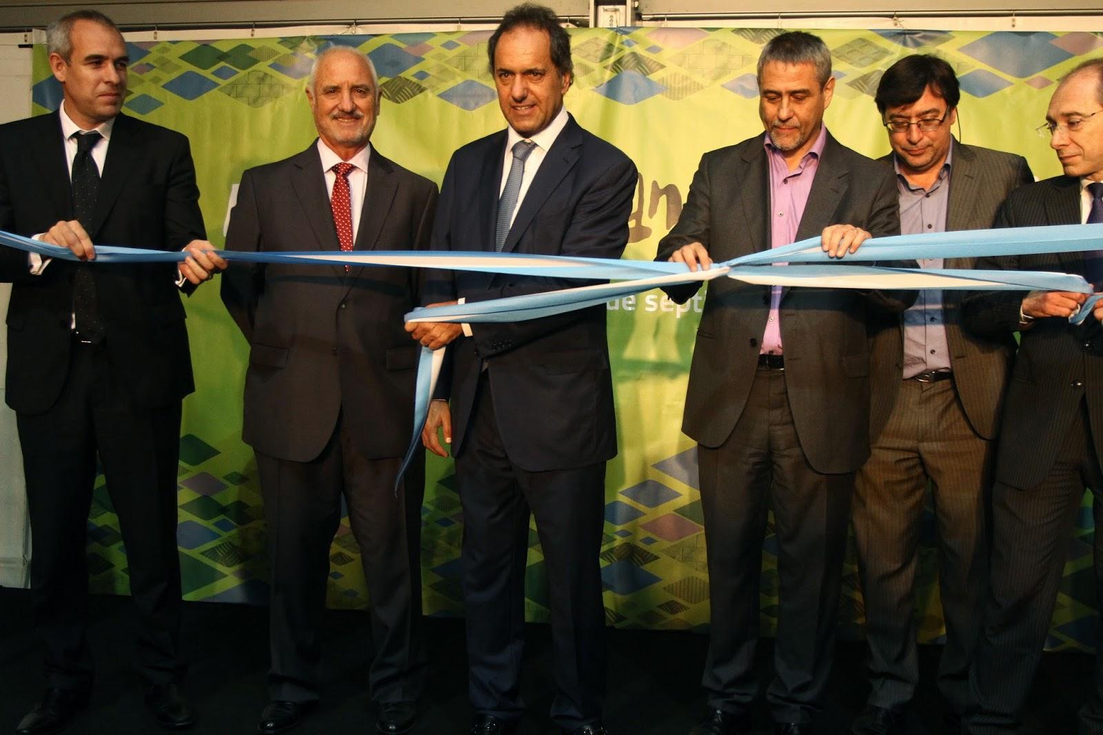 Scioli y Ferraresi en Expo Avellaneda 2014