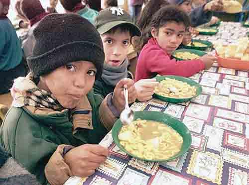 Chicos pobres en la Argentina