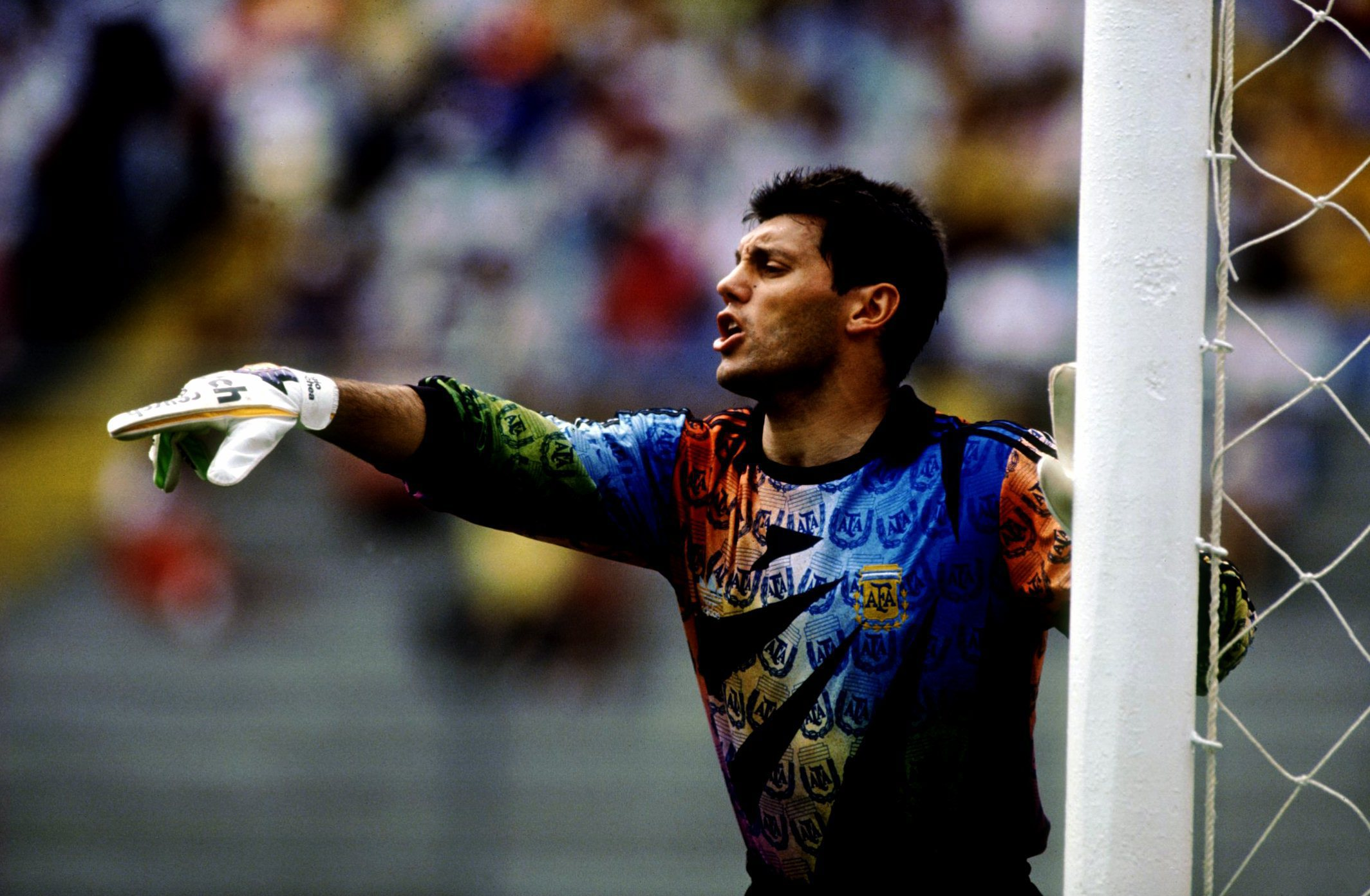 JUN 1993:  SERGIO GOYCOCHEA THE ARGENTINA GOALKEEPER IN ACTION DURING THE 1993 COPA AMERICA.  Mandatory Credit: Shaun Botterill/ALLSPORT