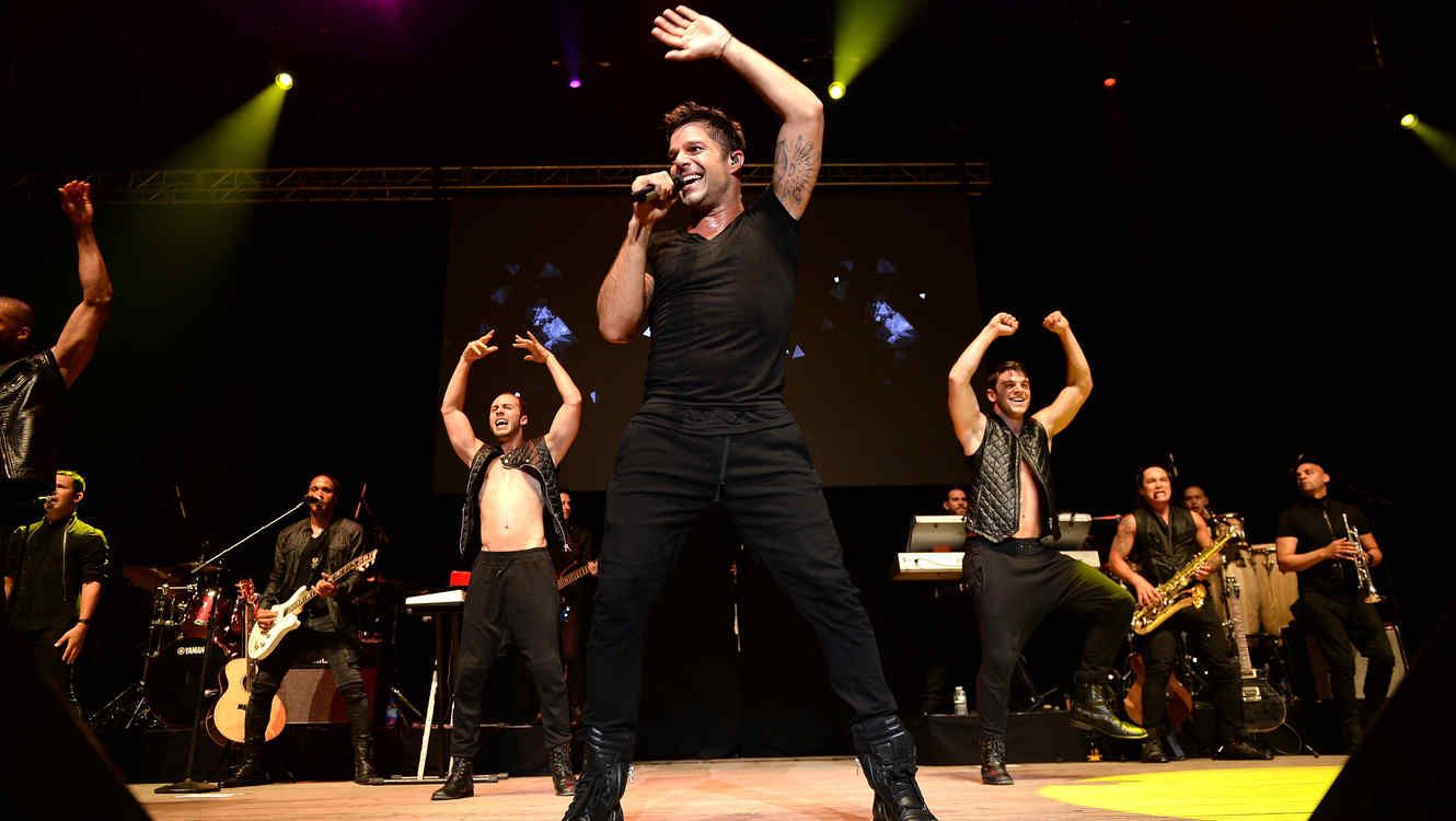 WANTAGH, NY - MAY 31:  Ricky Martin performs at 103.5 KTU's KTUphoria 2015 at Nikon at Jones Beach Theater on May 31, 2015 in Wantagh, New York.  (Photo by Dimitrios Kambouris/Getty Images for iHeartMedia)